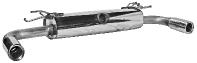 Endschalldämpfer mit Einfach-Endrohr 1 x Ø 90 mm LH+RH