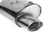 Endschalldämpfer mit Einfach-Endrohr oval 120 x 80 mm LH