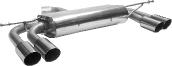 Endschalldämpfer mit Doppel-Endrohr 2 x Ø 76 mm LH + RH, 20° schräg geschnitten