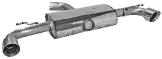 Endschalldämpfer mit Einfach-Endrohr LH + RH 1 x Ø 100 mm, 30° schräg geschnitten (im RACE Look)