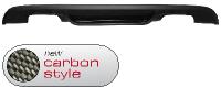 Heckschürzeneinsatz, mit Auschnitt für 2 x Doppel-Endrohr, Carbon Style