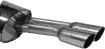 Endschalldämpfer mit Doppel-Endrohr 2 x Ø 63 mm