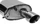 Endschalldämpfer mit Einfach-Endrohr 30° schräg geschnitten 1 x Ø 100 mm (im RACE-Look) Ausgang LH