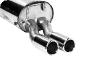 Endschalldämpfer mit Doppel-Endrohr 2 x Ø 70 mm mit Lippe
