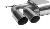 Endschalldämpfer mit Doppel-Endrohr LH, 2 x Ø 76 mm, 20° schräg geschnitten