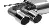 Endschalldämpfer mit Doppel-Endrohr LH, 2 x Ø 90 mm mit Lippe, 20° schräg geschnitten