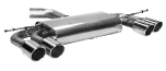 Endschalldämpfer mit Doppel-Endrohr LH + RH, 2 x Ø 90 mm mit Lippe, 20° schräg geschnitten