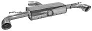 Endschalldämpfer mit Einfach-Endrohr LH + RH, 1 x Ø 100 mm, 30° schräg geschnitten (im RACE Look)