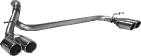 Doppel-Endrohr mit Lippe, 20°  schräg geschnitten 2 x Ø 76 mm LH + RH