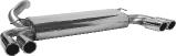 Endschalldämpfer mit Doppel-Endrohr LH + RH 2 x Ø 76 mm mit Lippe, 20° schräg geschnitten Volvo S40