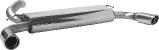 Endschalldämpfer mit Einfach-Endrohr LH + RH 1 x Ø 90 mm 20° schräg geschnitten Volvo V50