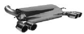 Endschalldämpfer mit Doppel-Endrohr LH + RH 2 x Ø 76 mm mit Lippe, 20° schräg geschnitten