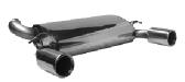 Endschalldämpfer mit Einfach-Endrohr LH + RH 1 x Ø 100 mm