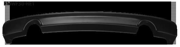 Heckschürzeneinsatz, mit Auschnitt für 2 x Einfach-Endrohr BMW 3er (F30)